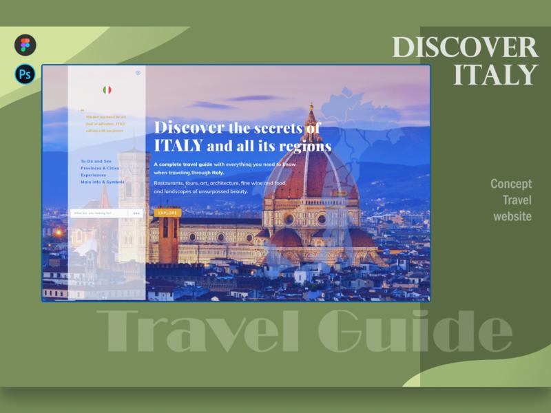 Discover ITALY - Website Concept complete guide guide traveling travel website webdesign uxui ux design ui design concept