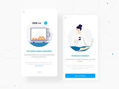 Onboarding Illustrations design onboarding illustration ux user interface ui mobile fintech banking app