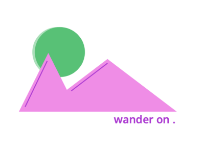 wander on . illustration icon design