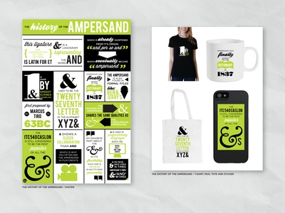 The History of the Ampersand illustration green tote shirt sticker mug ampersand poster print illustrator flat design branding portfolio