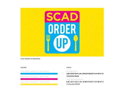 SCAD Order Up Logo scad fonts font type typography colorful food app cmyk logo branding vector design illustrator portfolio