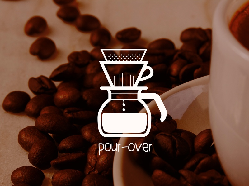 Pour Over vector outline ai minimal icon coffee food pour-over