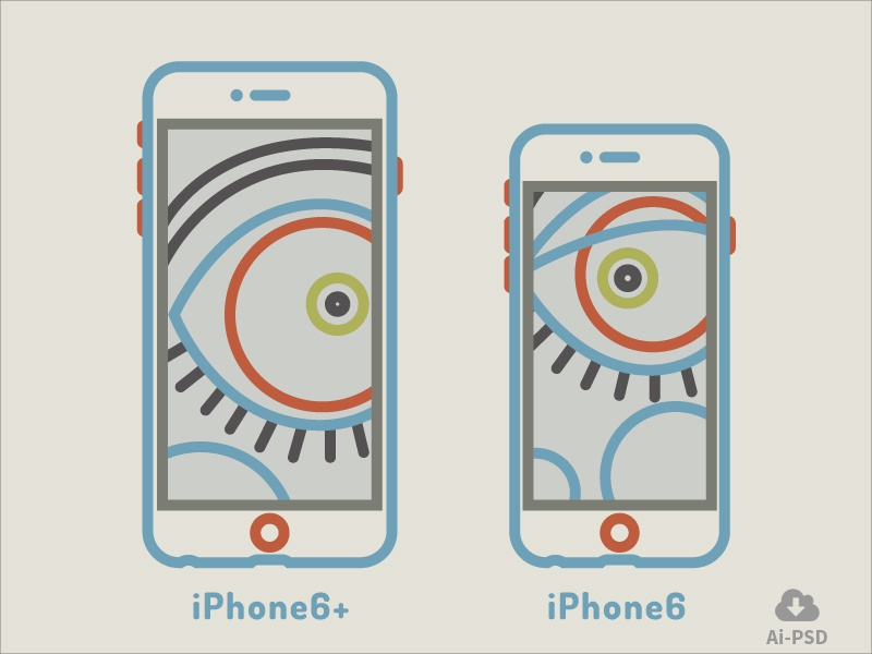 Iphone 6 iphone6 iphone vector outline free download