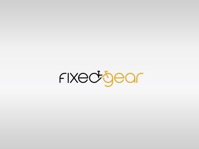 FixedGear typography logo branding vector minimal illustrator design flat