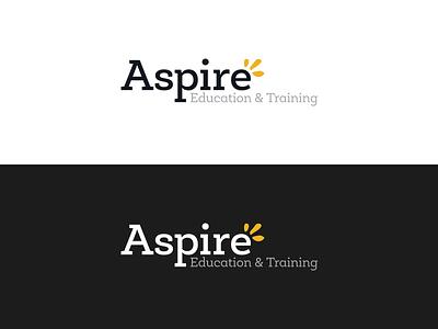 Aspire Logo company branding clean simple business logo