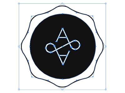 A&A Wax seal mark logo wax seal monogram