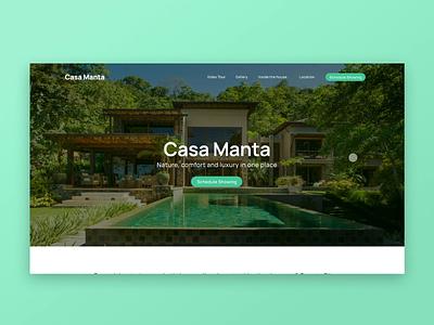 Website Interaction — Casa Manta nature tropical interactive prototype beach house beach ui design interaction web website design