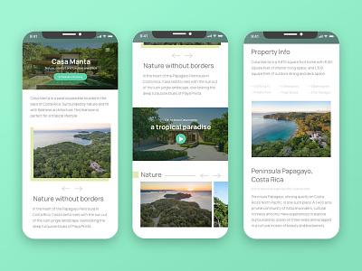 Mobile Screens — Casa Manta mobile mobile design mobile ui island tropical ui nature beach website design web responsive website responsive design responsive