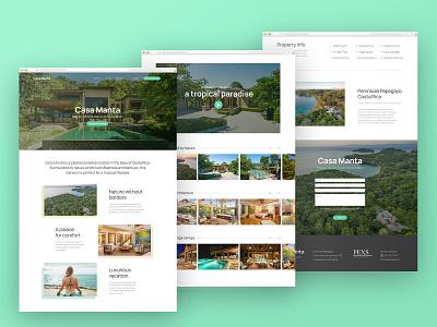 Website Design — Casa Manta beach house beach green tropical nature ui web website design