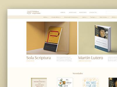 Website Design — Palabra Inspirada Bookstore website libros bible verse bible menu ecommerce bookshop bookstore books branding ui web website design