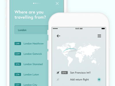 Lunair colourful colorful simple minimal clean ui ux mobile design product app ios