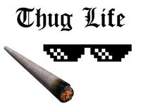 Thug Life Starter Pack smoke blunt glasses font type download pack starter life thug