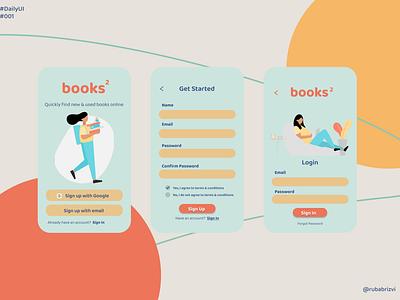DailyUI #001 app reading book books minimal illustration ux ui design daily 100 challenge dailyui 001 daily ui dailyui daily