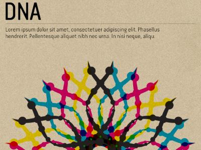 DNA overlay poster