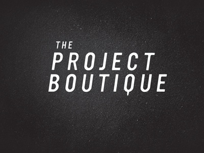 The Project Boutique logo concept draft wip ultramagnetic fashion label