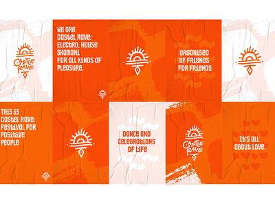 Castel Rave Poster Pack sunlights electro techno branding festival poster