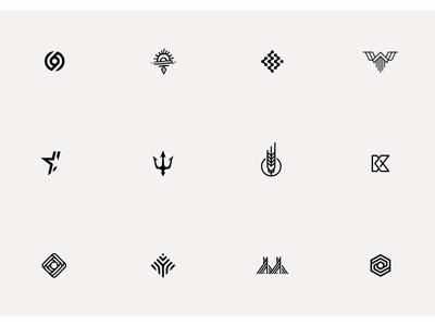 symbols v.1 lawyers shaman geometric star triple letter detail design minimal pictogram icons sygnet symbol logo