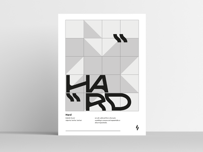 hard / poster slowinskipawel geometric hard simple type custom letters poster