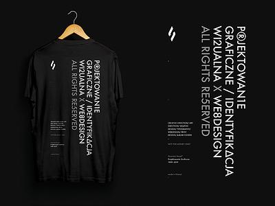 Personal t-shirt typopolo graphic design slowinski pawel futura art direction designer minimal typography design tshirt personal branding