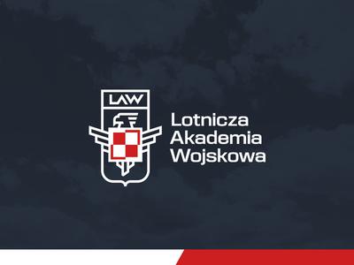 Polish Air Force University/unused grid symbol geometric plane eagle patriot university air force poland symbol logo