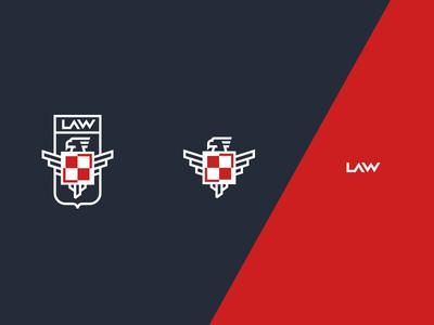 Lotnicza Akademia Wojskowa /unused wings university plane air force force air eagle design logo symbol