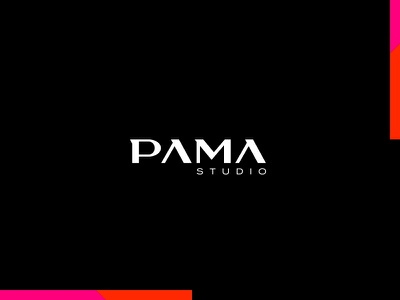 Interior Design Studio pama studio simple letters typography geometric logotype studio design interior