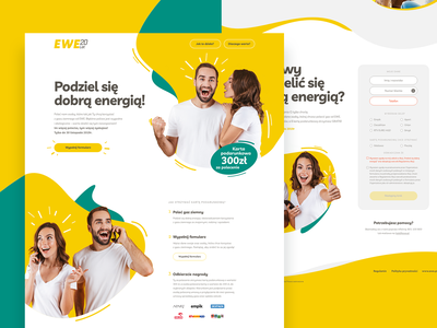 Positive landing page energy share page webdesign landing page