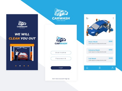 Car Wash App Development car app design responsive mobile app design design ios app android app mobile app illustration creative trending ui responsive design on demand app on demand car wash web app web ux ui branding