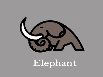ELEPHANT LOGO vector icon branding logo photoshop modern logo minimalist logo design illustrator graphic design