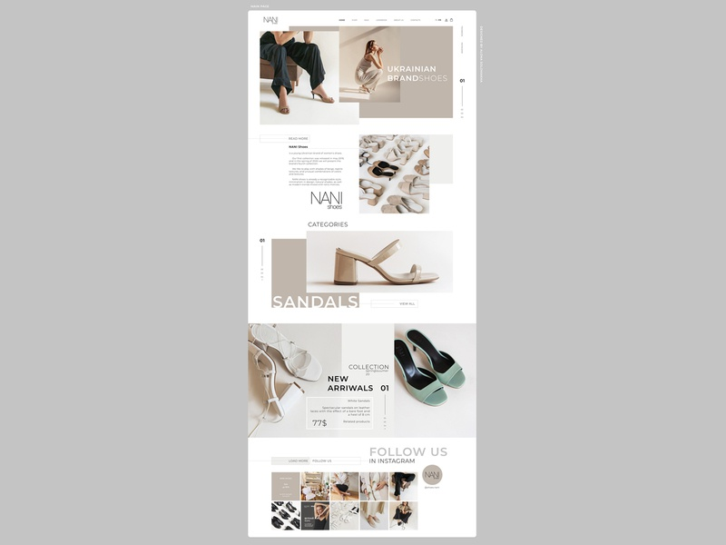 part.2 MAIN PAGE CONCEPT\WEBDESIGN\WEBSITE\SHOP\SHOES\NANISHOES website webdesign web ui ux shop shoes project design