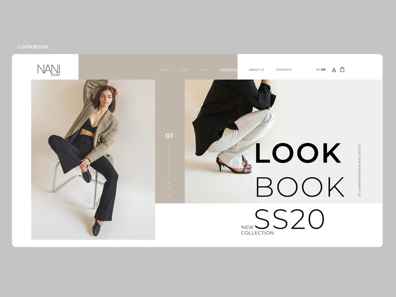 part.3 LOOKBOOK\WEBDESIGN\WEBSITE\SHOP\SHOES\NANISHOES website webdesign web ui ux shop shoes project design