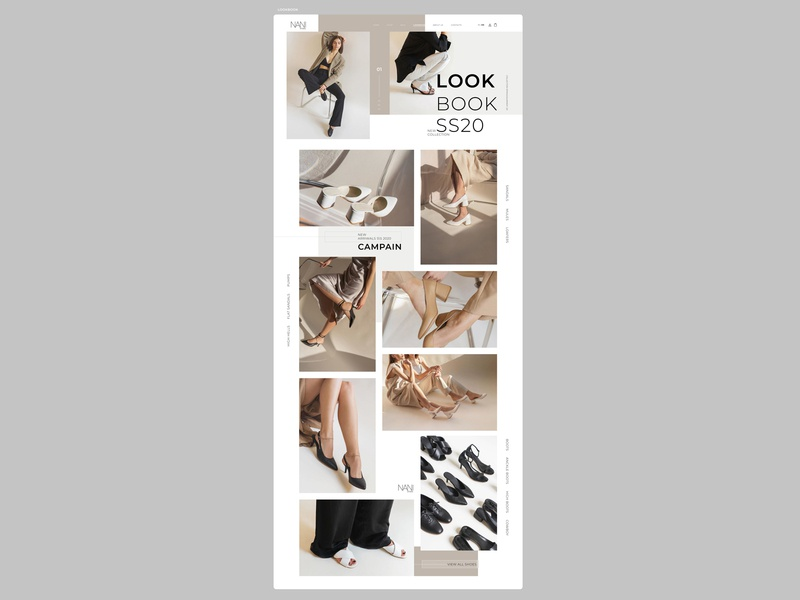 part.4 LOOKBOOK CONCEPT\WEBDESIGN\WEBSITE\SHOP\SHOES\NANISHOES website webdesign web ui ux shop shoes project design