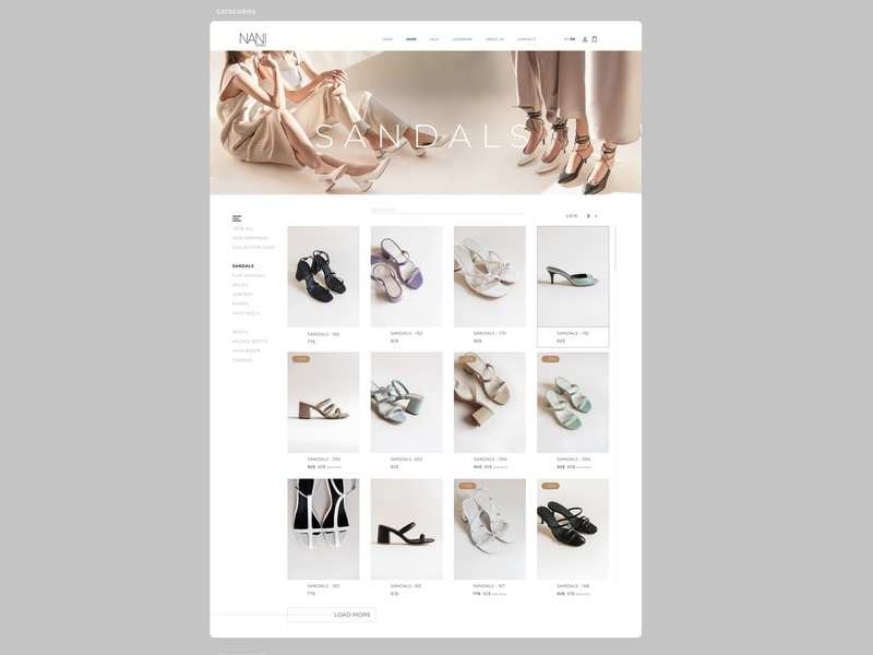 part.4 CATEGORIES CONCEPT\WEBDESIGN\WEBSITE\SHOP\SHOES\N ux ui shop website webdesign shoes project design