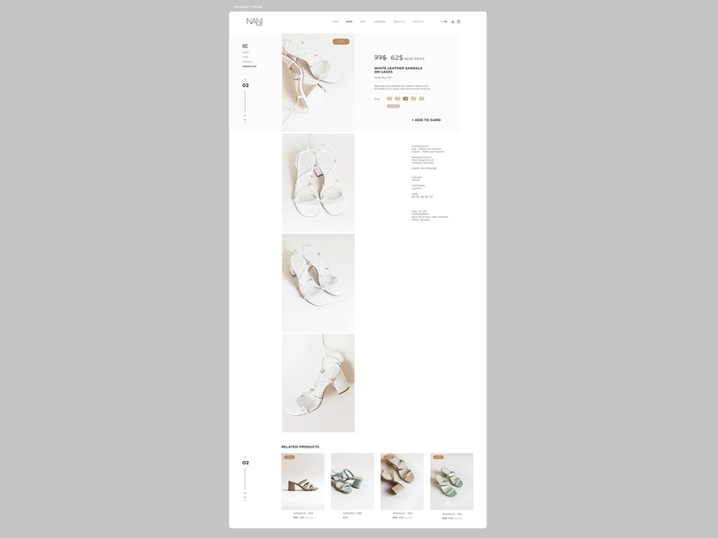 part.6 PRODUCT CONCEPT\WEBDESIGN\WEBSITE\SHOP\SHOES\NANISHOES website webdesign ui ux shop shoes project design