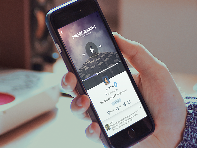 Staying Tuned interface photography ui ux mobiledesign iphone6plus ios musicplayer player