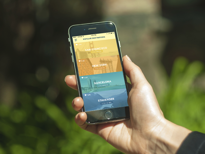 Live. Travel. Enjoy. tourism travelling travel ios iphone6 mobiledesign ux ui photography interface