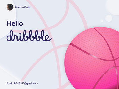 Hello Dribbble..! vector graphic design art web typography ux branding ui illustration design