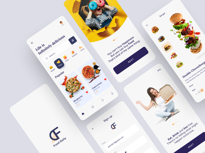Food App (Final Part) uiuxdesign ux design ui design mobile app design mobile app mobile pizza app logo pizza food app design food app ui food app design app burger app burger art ux ui typography design