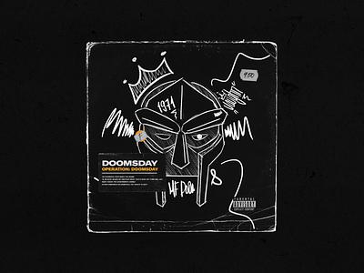 DOOMSDAY / Celebrating MF DOOM black and white hip hop graffiti illustration animation album cover vinyl madvillain mf doom