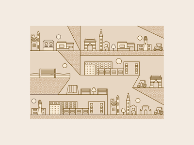 Vintage Pattern flat minimal icon branding illustration