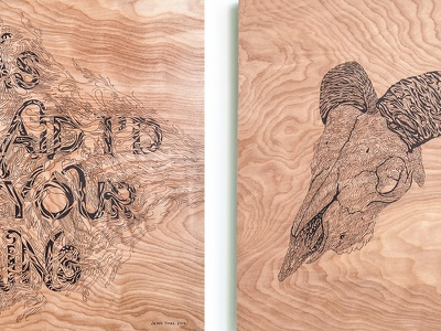 Carr Commission art illustration lettering drawing design style wood panel