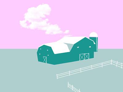Funky Farmland handmade cloud vibe farm style color icon illustration design