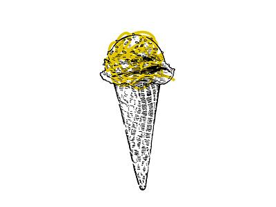 i scream, you scream love scribble yum drawing ice cream vibe style art direction illustration design