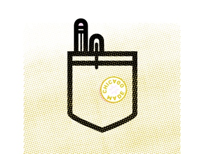 Designerd 2 designer artist midwest chicago pencil pen illustration icon vector smart nerd design