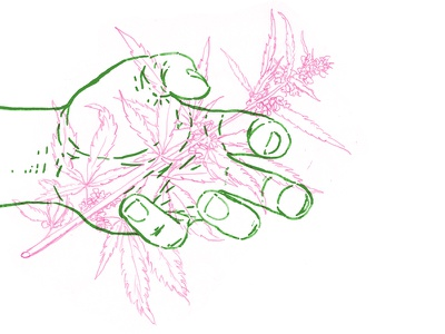 the fire that works ✌️ hippy trippy power flower plants ill hands marijuana weed color illustration drawing