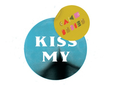 Kiss My Cake Babies logo style icon color art vector texture lettering design
