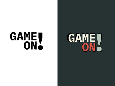 game on graphic design arcade logo design branding warm-up dribbble