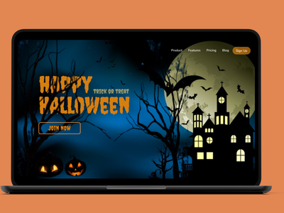 dribbbleweeklywarmup scary learn horror halloween fun dribble challenge ux website design webdesign design dailyui website ui