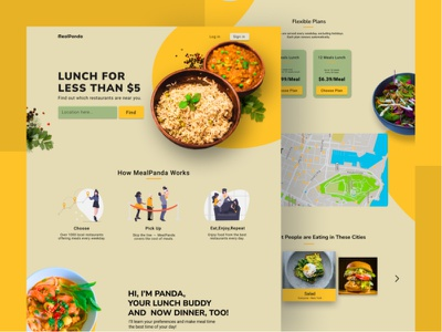website design for food plans yellow eat food website design webdesign branding ux ui dribble designer challenge website dailyui design