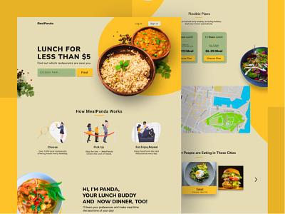 website design for food plans yellow eat food website design webdesign branding ux ui dribble designer challenge website dailyui design